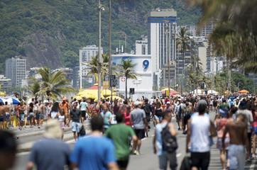 Ipanema Beach Rio de Janeiro Summer Crowd