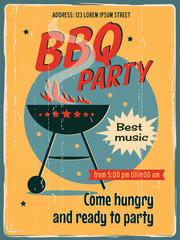 Vintage barbecue invitation card