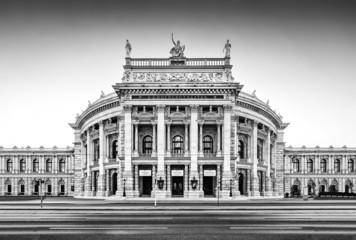 In de dag Wenen Famous Burgtheater in Vienna, Austria
