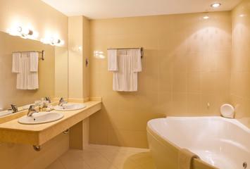 interior design: a empty hotel beautiful bathroom