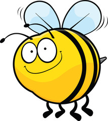 Smiling Cartoon Bee