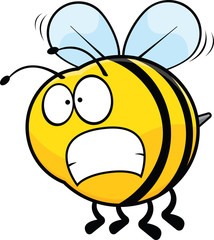 Worried Cartoon Bee