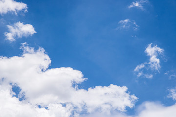 white cloud and clear sky