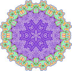 Abstract ornate geometric