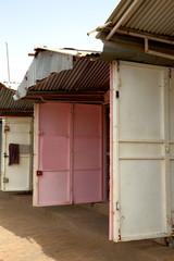 Three doors in market-Ziguinchor-Senegal