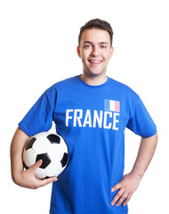 Laughing football player from France