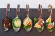 appetizers  on party spoons