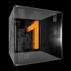 Orange one in a transparent design box