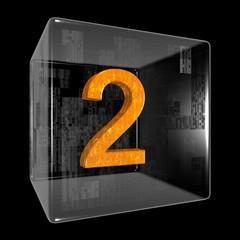 Orange two in a transparent design box