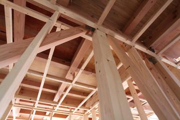 新築木造住宅 建築中の現場イメージ