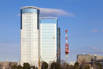 高層ビルと再開発ラッシュの東京湾岸エリア 豊洲地区