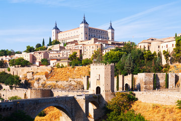 View of  Toledo in sunny summer day