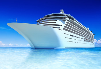 Cruise ocean and blue sky