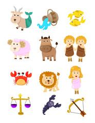 Set of zodiacs