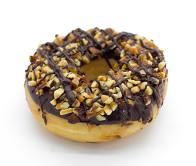 donuts on white background