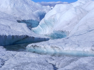 Greenland ice river