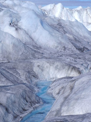 Greenland icy landscape