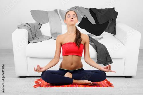 Как быстро похудеть дома! домашние упражнения