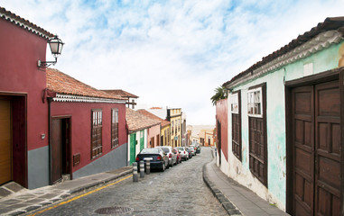 narrow street in La Orotava, Tenerife