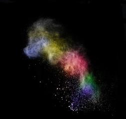 colored dust cloud explosion