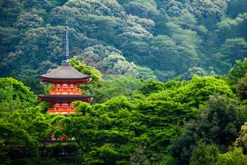 Canvas Prints Japan Three-storied pagoda,Taisan-ji Temple,Kiyomizu-dera Temple,Kyoto