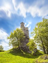 Castle in beautiful day, Bobolice, Poland