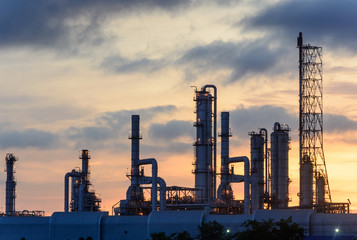 Oil refinery factory plant or chamical and power energy