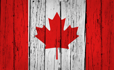 Poster de jardin Canada Canada Flag Grunge Background