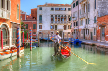 Photo sur Aluminium Gondoles Venice Gondola Ride