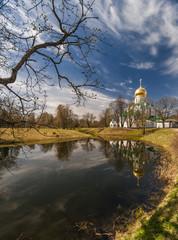 Church next to the spring pond