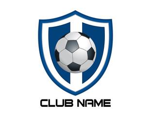 Blue footbal emblem