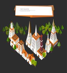 3D city background