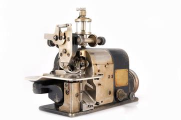 Old Industrial Overlock Sewing Machine.