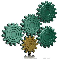 ingranaggi oro verde