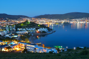 Autocollant pour porte Turquie Night view of Bodrum, Turkey