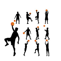 basketball players vector silhouettes