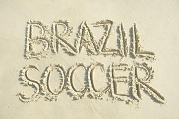 Football Handwritten Soccer Message Sand Beach