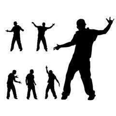 hip hop dancer silhouette vector illustration