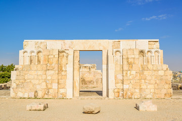 The Monumental Gateway of Amman Citadel in Amman, Jordan