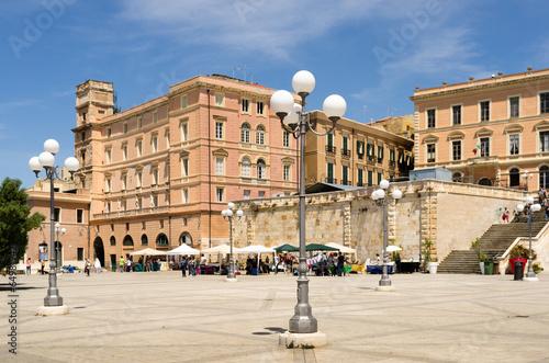 Sardegna Cagliari Terrazza Umberto I Stock Photo And
