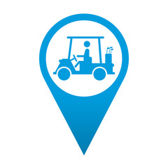 Icono localizacion simbolo carrito de golf