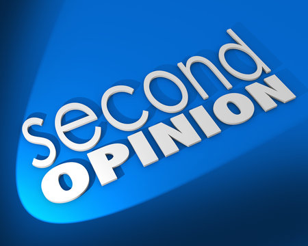 Second Opinion Words Background Different Judgment Verification