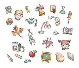 School icons. Vector format