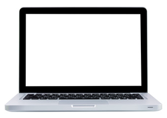 Laptop computer notebook isolation white display