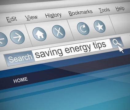 Saving energy concept.