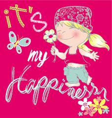 baby hippie girl