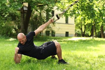 TRX Training im Park