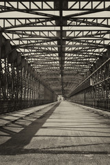 Vintage iron truss bridge