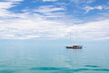Calm sea and a boat,Maldives