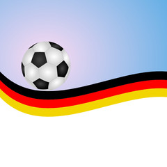 Fußball mit Hintergrund